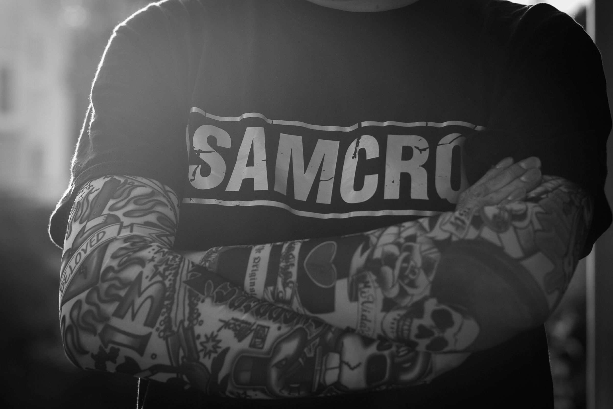 man, male, inked, tattoos, samcro, soa, soafx, portrait © André Schunert